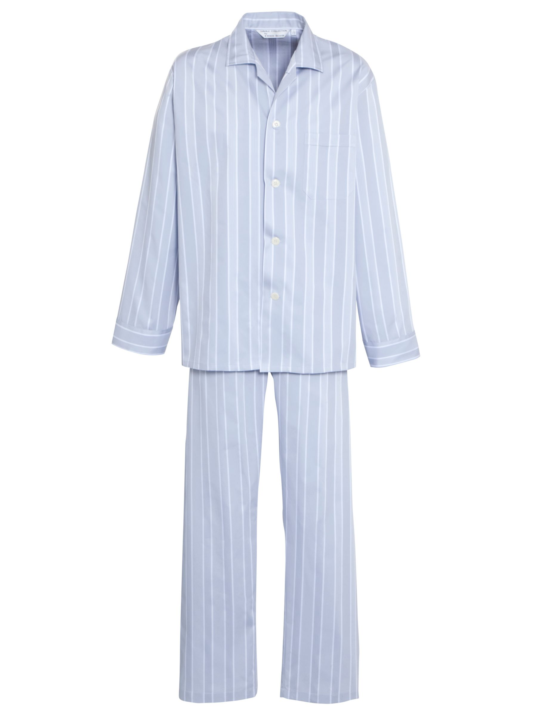 Derek Rose Satin Stripe Lounge Set