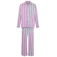 Buy Derek Rose Satin Stripe Pyjamas Set Online at johnlewis.com