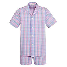 Buy Derek Rose Check Shirt and Shorts Pyjamas Set Online at johnlewis.com
