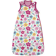 Buy John Lewis Baby Happy Mix Sleeping Bag, 1 Tog, Pink/Multi Online at johnlewis.com