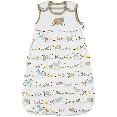 Buy John Lewis Baby Farmyard Sleeping Bag, 2.5 Tog, Multi Online at johnlewis.com