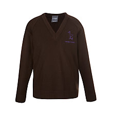 Buy The Mount School Girls' Jumper, Brown Online at johnlewis.com