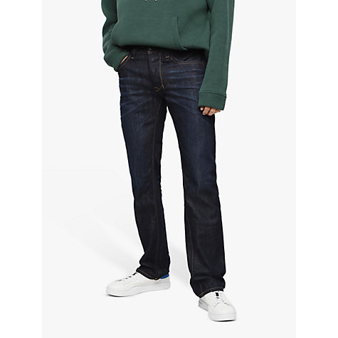 Buy Diesel Larkee Straight Jeans, Mid Wash 806W Online at johnlewis.com