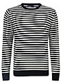 Fred Perry Breton Stripe Jumper, Navy/White