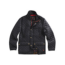 Buy Joules Foxton Quilted Jacket, Black Online at johnlewis.com