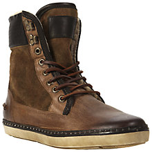 Buy Bertie Crypton Leather and Suede Boots, Tan Online at johnlewis.com