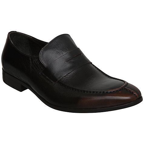 Buy Dune Amalfi Apron Front Leather Penny Loafers, Brown Online at johnlewis.com