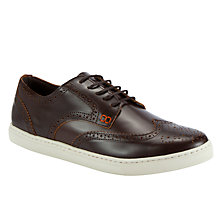 Buy Dune Titanium Trainers, Tan Online at johnlewis.com