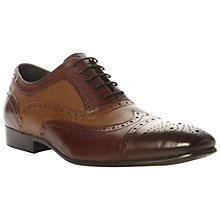 Buy Dune Amore Brogue Shoes, Multi Tan Online at johnlewis.com