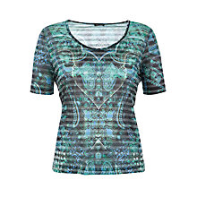 Buy Gerry Weber Faded Striped Paisley T-Shirt, Multi Online at johnlewis.com