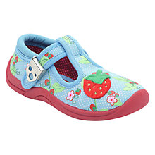 Buy Start-rite Strawberry Cream Canvas Shoes, Blue Online at johnlewis.com