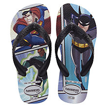 Buy Havaianas Batman/Superman Flip Flops, Multi Online at johnlewis.com