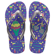 Buy Havaianas Fun Flip Flops, Violet Online at johnlewis.com