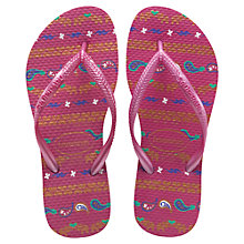 Buy Havaianas Slim Garden Flip Flops, Super Pink Online at johnlewis.com