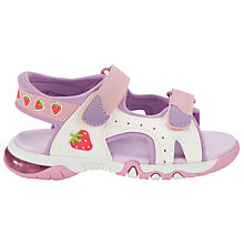 Buy John Lewis Girl Strawberry Light Trekker Sandals, Pink Online at johnlewis.com