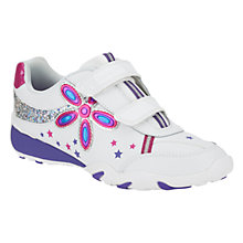Buy Clarks Daisy Shimmer Trainers, White Online at johnlewis.com