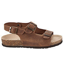 Buy John Lewis Boy Andy Double Buckle Sandals, Brown Online at johnlewis.com