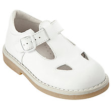 Buy John Lewis Girl Judith Cut Out T-Bar Shoes, White Online at johnlewis.com