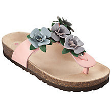 Buy John Lewis Girl Nicola Toe Post Sandals, Pink Online at johnlewis.com