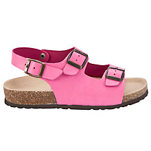 Buy John Lewis Girl Double Buckle Sandals, Pink Online at johnlewis.com
