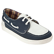 Buy John Lewis Boy Zac Boat Shoes, Navy/White Online at johnlewis.com