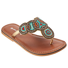Buy John Lewis Girl Beaded Traveller Sandals, Multi Online at johnlewis.com
