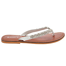 Buy John Lewis Girl Sophie Flip Flops, Silver Online at johnlewis.com