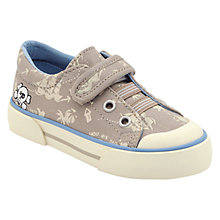 Buy Start-rite Treasure Map Canvas Trainers, Brown Online at johnlewis.com