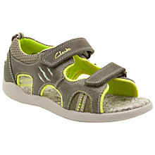 Buy Clarks Stompwave Sandals, Khaki Online at johnlewis.com