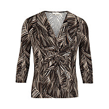 Buy CC Petites Leaf Print Jersey Top, Natural/Pebble Online at johnlewis.com