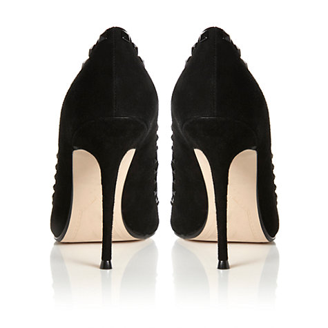 Buy Dune Addict Stud Detail Suede Point Toe Stiletto Court Shoes Online at johnlewis.com