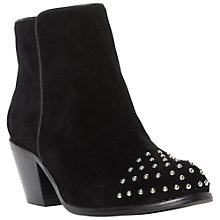 Buy Dune Pazame Suede Studded Toe Ankle Boots, Black Online at johnlewis.com