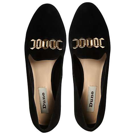 Buy Dune Loola Chain Trim Slipper Cut Loafers Online at johnlewis.com