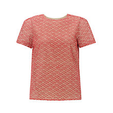 Buy Somerset by Alice Temperley Cutwork Top, Red Online at johnlewis.com