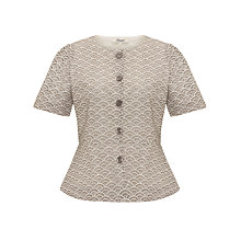 Buy Somerset by Alice Temperley Cutwork Peplum Jacket, Biscuit/Cream Online at johnlewis.com