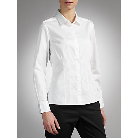 Buy COLLECTION by John Lewis Helen Stretch Shirt, White Online at johnlewis.com