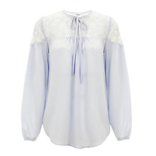 Buy Somerset by Alice Temperley Lace Blouse, Pale Blue Online at johnlewis.com
