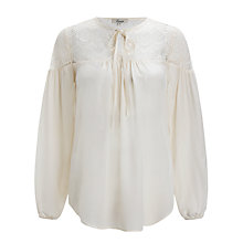 Buy Somerset by Alice Temperley Lace Blouse, Cream Online at johnlewis.com