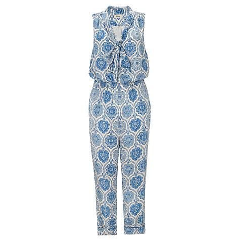 Buy Somerset by Alice Temperley Tile Print Silk Jumpsuit, Blue Online at johnlewis.com