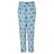Buy Somerset by Alice Temperley Tile Print Silk Trousers, Blue Online at johnlewis.com