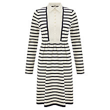 Buy Somerset by Alice Temperley 2in1 Striped Dress, Navy/Cream Online at johnlewis.com