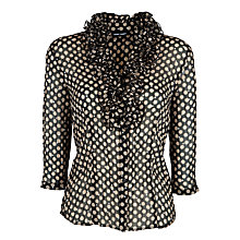 Buy Gerry Weber Crinkle Spot Blouse, Black/Sand Online at johnlewis.com