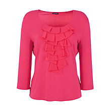 Buy Gerry Weber Jersey Ruffle Top, Pink Online at johnlewis.com
