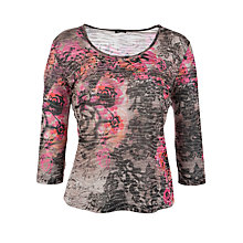 Buy Gerry Weber Print Long Sleeve Top, Black Online at johnlewis.com