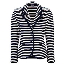 Buy Gerry Weber Striped Jersey Jacket, Navy/White Online at johnlewis.com