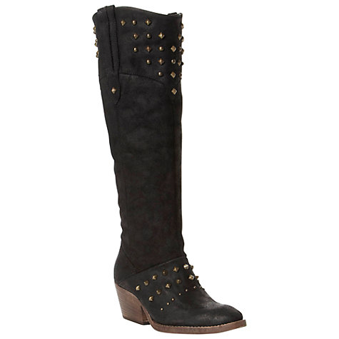 Buy Bertie Taffie Nubuck Studded Western Knee Boots Online at johnlewis.com
