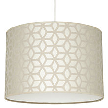 Buy John Lewis Trellis Drum Shade, Silver Online at johnlewis.com