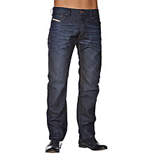 Buy Diesel Bravefort 0806W Loose Tapered Jeans, Indigo Wash Online at johnlewis.com