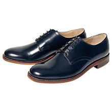 Buy Ben Sherman Qewy Postman Leather Shoes, Officer Navy Online at johnlewis.com