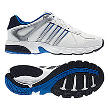 Buy Adidas Duramo 5 Synk Trainers, White/Silver/Blue Online at johnlewis.com